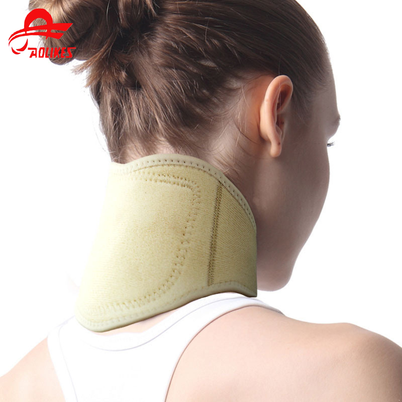 Soft Black Magnetic Neck Braces Supports Tourmaline Belt Therapy Spontaneous Heating Headache Massager Guard Protector Products цена