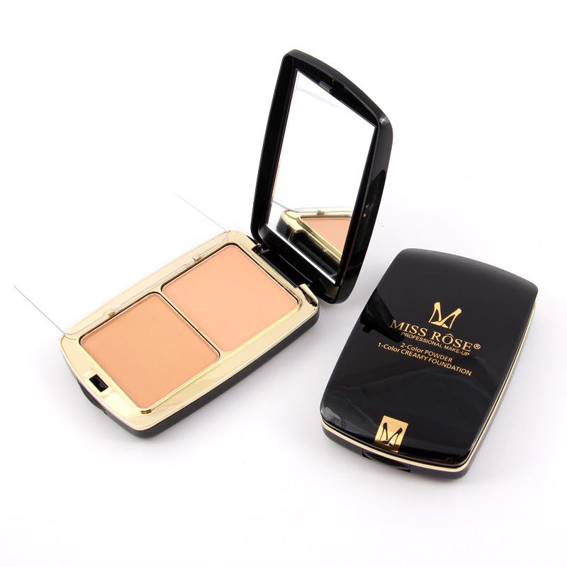6 Style 2 Color Fashion Contour Powder Palette Attractive Air Cushion Mirror Powder Box Professional Makeup Tool