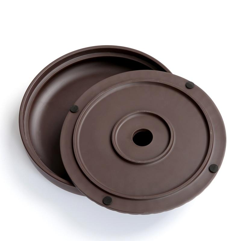 PINNY Yixing Purple Clay Round Tea Tray 20.7*20.7*4.2cm Chinese Tea Ceremony Table Hand Made Kung Fu Tea Tray Teapot Crafts Tray 4