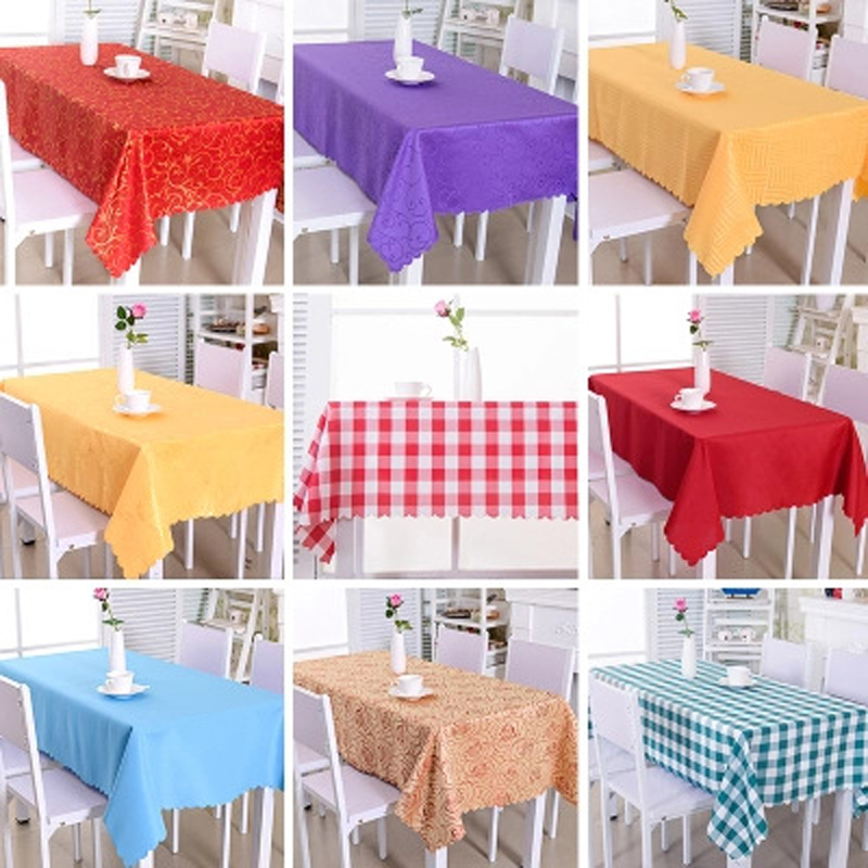 2018New Tablecloth Hotel Restaurant Family Table Korean Western Restaurant Square Coffee Table Cloth Dinner Dining Wedding Party