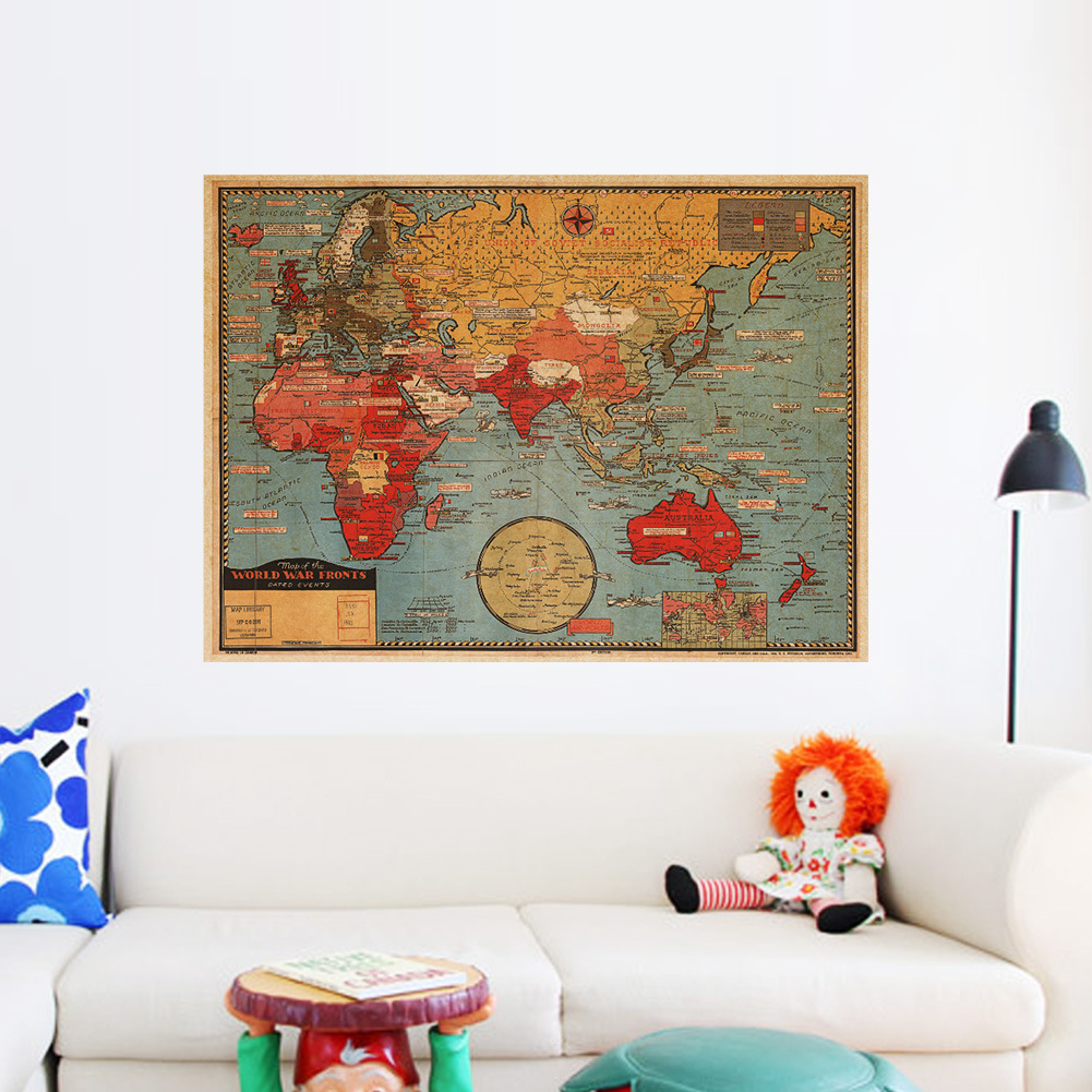 Large world geography map wall stickers original creative art large world geography map wall stickers original creative art bedroom home decorations walls decals poster in wall stickers from home garden on amipublicfo Images