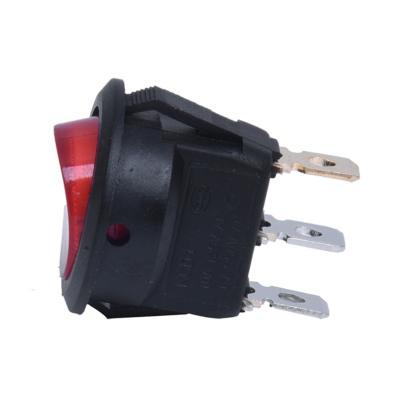 Interrupteur A Bascule Bipolaire ON OFF Rouge 3 Broches 220V