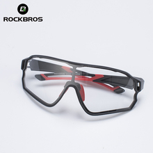 ROCKBROS Cycling Photochromic Glasses UV400 Sports Sunglasses
