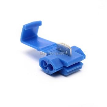 1000PCS Quick Splice Terminals Crimp Non Destructive Without Breaking Line Blue Connection Clip Wire Maintenance Tools 18-14 AWG