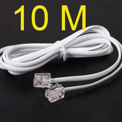 Free ShippingHigh Speed 10m 32ft RJ11 Telephone Phone ADSL Modem Line Cord Cable Free Shippingnew