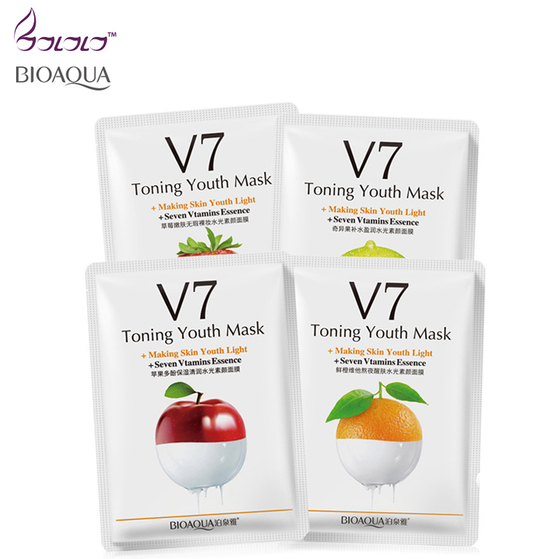 2016 New Natural Plant Fruit Vitamins Essence Face Mask Beauty Face Skin Care Treatment Mask Whitening Skin Youth Anti Wrinkles