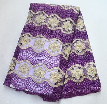 Latest design swiss cotton lace fabric african voile lace fabric 5 yards per lot swiss cotton fabric high quality lace  PSMA082