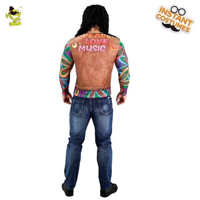 Popular Menu0027s Hippie 60s 70s 3D Digital Printing T-Shirt Long Sleeve Multicolor Stripe Fancy Dress Cosplay Hippie Costumes  sc 1 st  Aliexpress & Online Shop Popular Menu0027s Hippie 60s 70s 3D Digital Printing T-Shirt ...