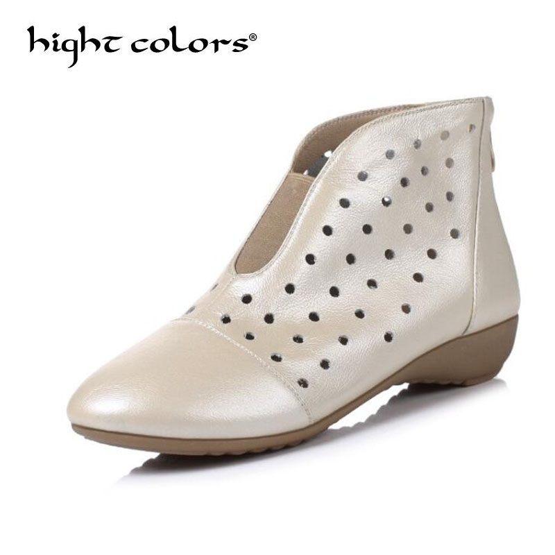 2018 summer new style bare boots hollow high shoes comfortable soft bottom mother shoes square dance shoes breathable cool boots
