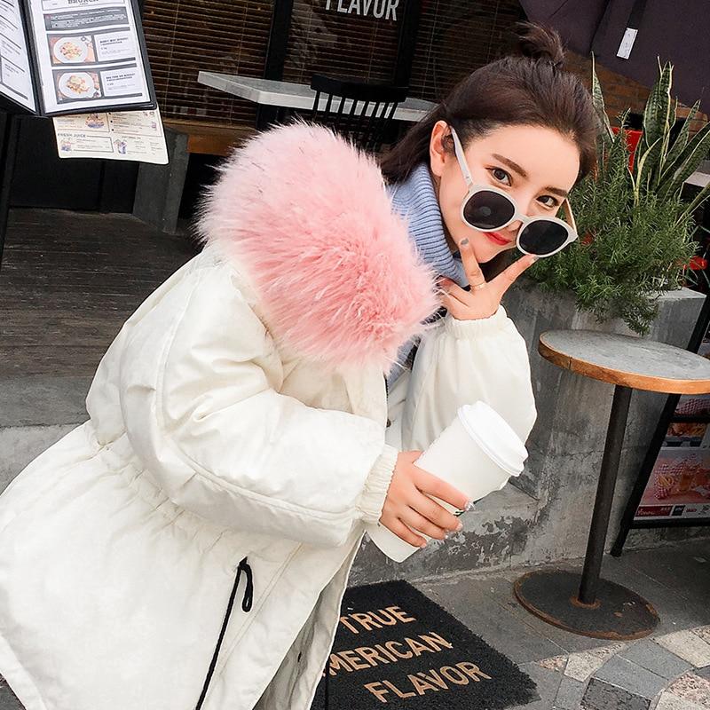 Le Mode Bas S blanc Parkas Dames Vers Cheveux Vestes Avec Casual army Femmes Col gris Renard camo rose Étoiles Tunique Manteaux Noir Camo 2018 xl Coton Coréenne Poilu Green EWaTRra0q