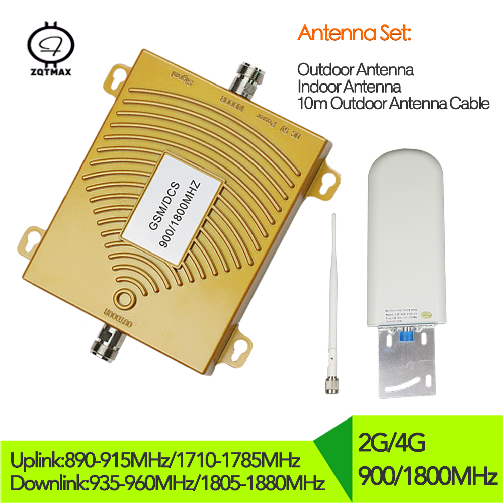 2g 4g Cellphone Signal Amplifier GSM 900mhz DCS 1800mhz Dual Band Repetidor Celular Mobile Phone Repeater 4g Signal Booster Set