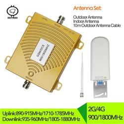 2g 4g telefon komórkowy wzmacniacz sygnału GSM 900mhz DCS 1800mhz dwuzakresowy Repetidor Celular telefon komórkowy Repeater 4g wzmacniacz sygnału zestaw