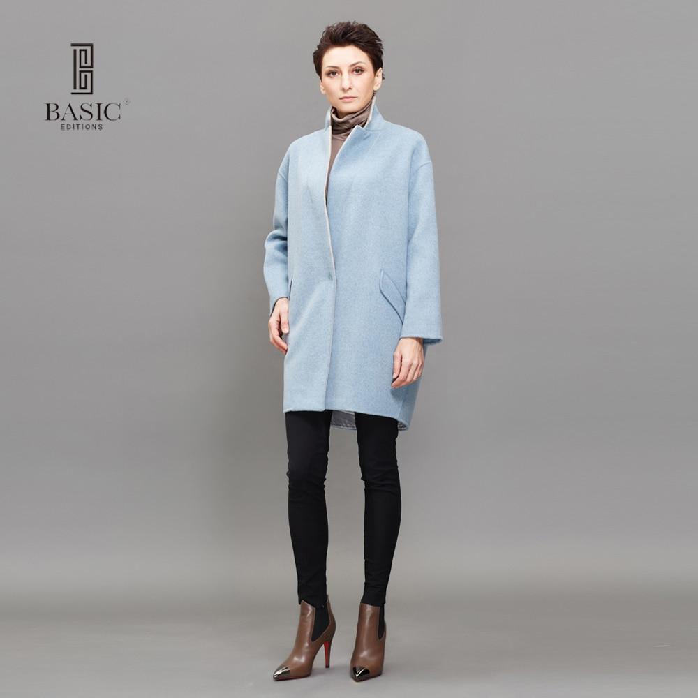 BASIC EDITIONS Loose Autumn Winter Coat Women Wool Coat Female ...
