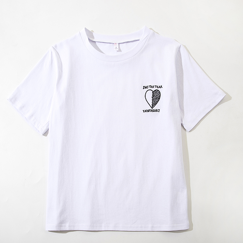 NAFMI t shirt women summer embroidery T-shirts cotton 80s barbie t shirt aesthetic tumblr graphic t shirts women 2018 cute shirt
