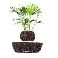Levitating Air Bonsai Pot Imitation stone Magnetic Levitation Suspension Flower Floating Pot Potted Plant for Home Office Decor
