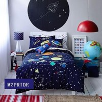 Милый мультфильм солнечной системы постельные принадлежности набор Детская кровать наборы звезды простыня наборы ПОЛНЫЙ Twin