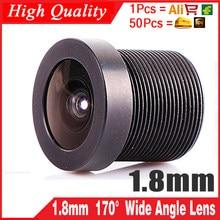 1.8mm lente mtv 170 graus grande angular cctv conselho ir câmera placa de montagem da lente hd efeito monitor de metal produto chip olhos