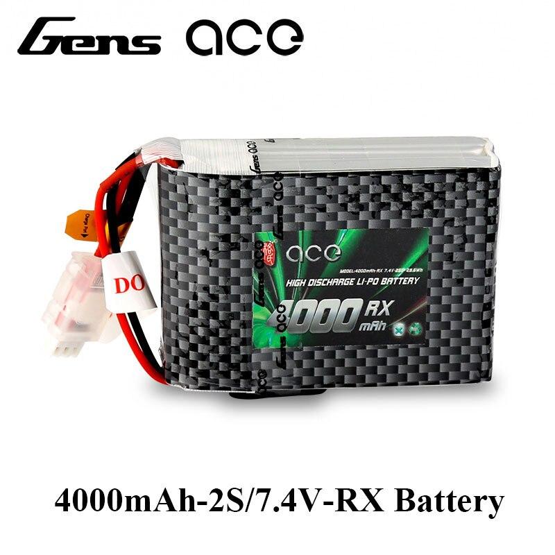 Gens ace 4000 mah 7.4 v 2S1P TX Lipo Batterie Pack avec JST-EHR Plug pour Spektrum DX9 DX8 DX7S DX7 émetteur