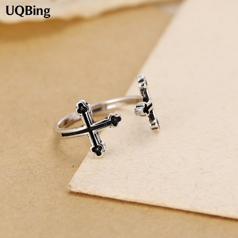 Wholesale Fits European Jewelry 925 Sterling Silver Rings Cross Ring 100% 925 Sterling Silver Ring Women Jewelry 2016