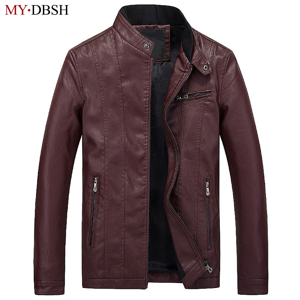 2018 New Style Spring Autumn PU Leather Jacket Men Fashion Brand Clothing Coat Black Brown Slim Fit Casual Jackets Free Shipping dhl free shipping brand clothing cow leather long jackets men s genuine leather black casual jacket fashion classics