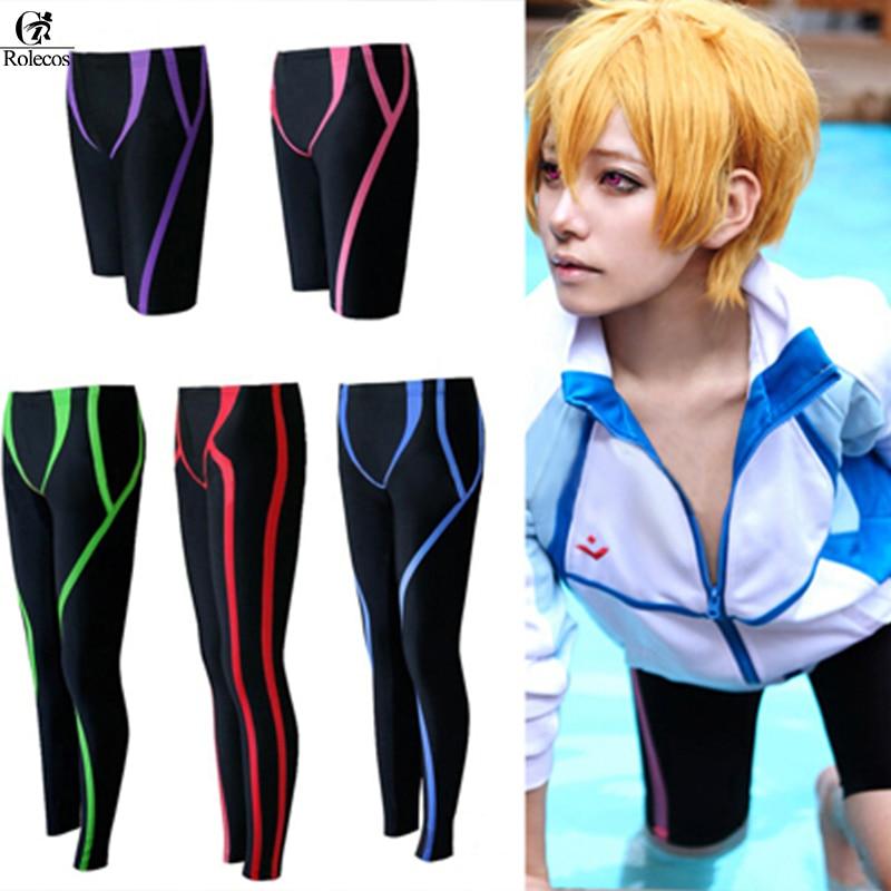 Anime Free Iwatobi Swim Club Nanase Haruka Makoto Rin Hazuki Nagisa Rei Cosplay Costume Swimming Board Shorts Costumes