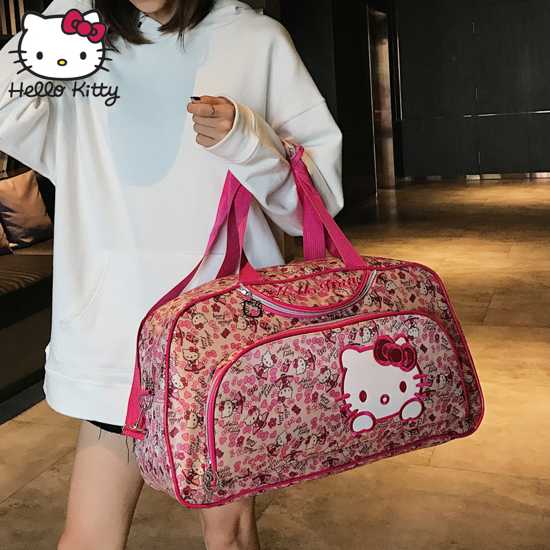 9243dd8be Hello Kitty 2019 Fashion Bag Hand Bags Fashion Single Shoulder Diagonal Bag  Lovely Girls Shopping Nylon Portable Plush Backpack