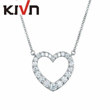 KIVN Fashion Jewelry CZ Cubic Zirconia Heart Women Girls Wedding Bridal Pendant Necklaces Christmas Promotion Birthday