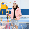 new arrived Spring Coats woman denim jacket Short Fashion Leisure long sleeves Loose Embroidery Floral all-matching