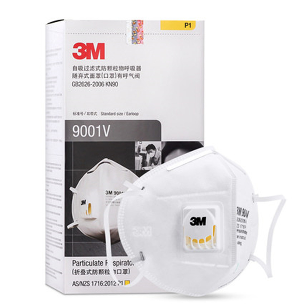 3M 9001V Vent Mask Anti-dust KN90 Anti PM2.5 Industrial Construction Dust Pollen Haze Gas Family&Pro Site Protection Tool 10pcs kn95 anti dust dust masks anti pm2 5 industrial construction dust pollen haze gas family and pro site protection tool