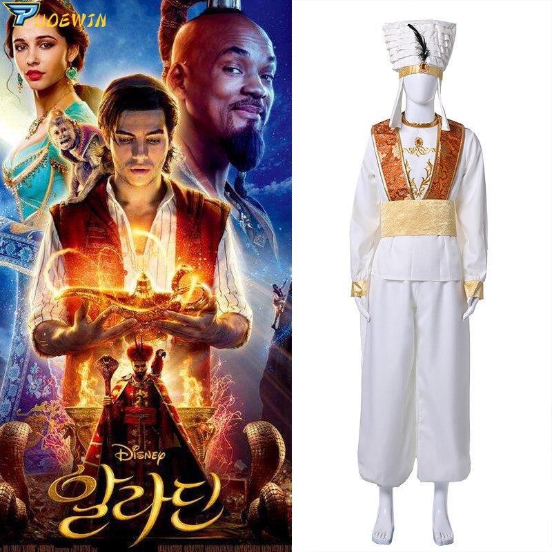 2019 New Moive Aladdin Lamp Prince Aladdin Costume For Mena Massoud Cosplay Adult Man Halloween Party Custom Made