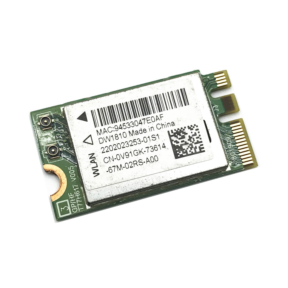 DW1810 8.02.11ac M.2 NGFF 433Mbps Bluetooth 4.1 WiFi Wireless Network Card QCNFA435 WIFI Module