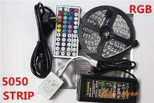 5M RGB Led Strip 5050 Non-Waterproof 60LED/M DC12V LED Strip Light 300 LEDs+44 Keys Remote Controller+12V 5A Power Adapter