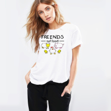 Stefan janoski Friends Not Food T-shirt Vintage Tshirt Tee Gift Vegan Shirt Vegetarian Natural Cute Tops Hippie 70s 80s 90s