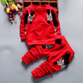 2016 Boy clothes fashion baby boy clothing sets kid Full clothes + trousers suit for children boys kid clothes baby clothing se