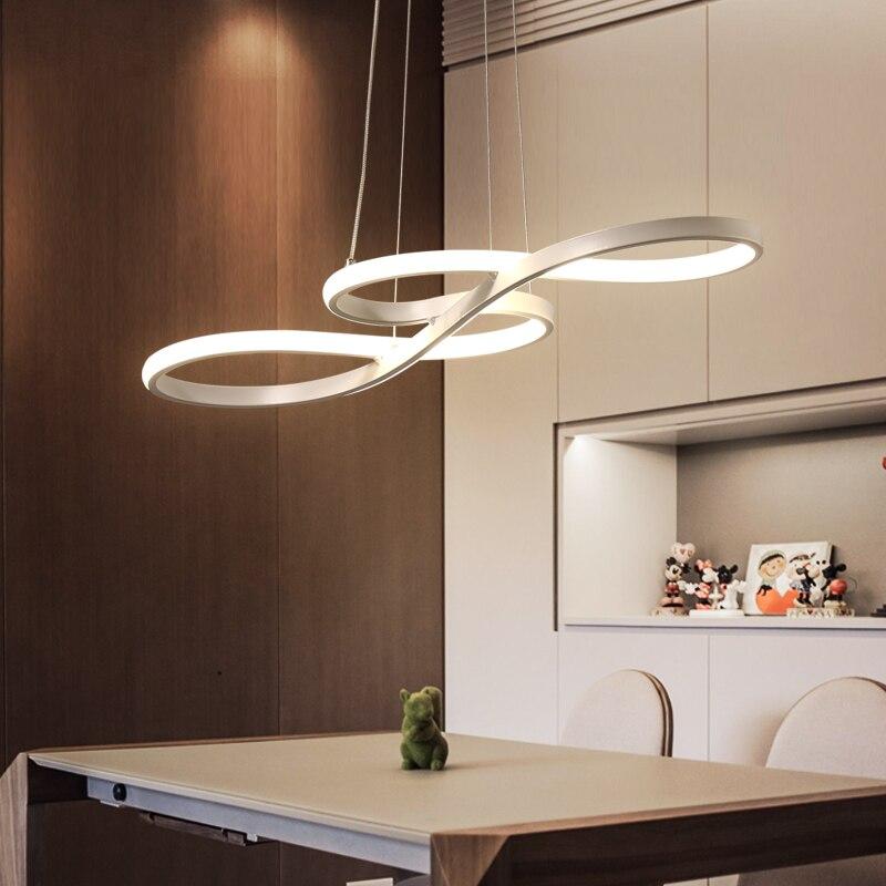 Длина 1250/750 мм современные светодиодные висит люстра для столовой Кухня зал Бар подвесной светильник подвесной Люстры AC85 265V