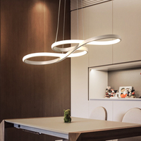 Length 1250/750mm Modern Led Hanging Chandelier For Dining Kitchen Room Bar Suspension luminaire Pendant Chandeliers AC85 265V