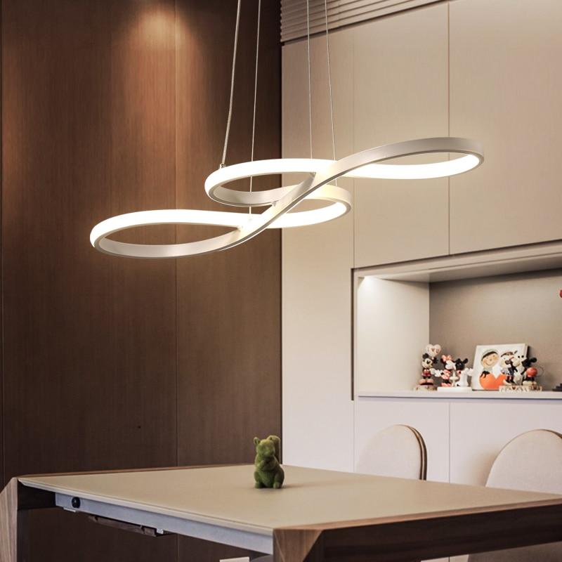 €89.23 25% de réduction Longueur 1250/750mm Moderne Led Lustre Suspendu  Pour Salle À Manger Cuisine Chambre Bar Suspension luminaire Pendentif  Lustres ...