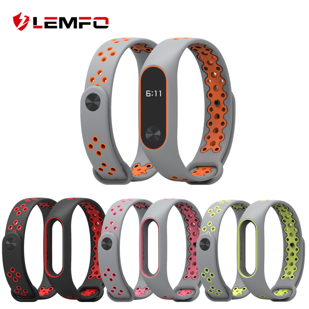 LEMFO Smart Band Accessories For Xiaomi Mi Band 2 Strap Replacement Wristband Double Color Silicone Bracelet For Men Women strap for xiaomi mi band 2 bracelet for xiaomi mi band 2 silicone wrist for mi band 2 smart accessories wristband replacement