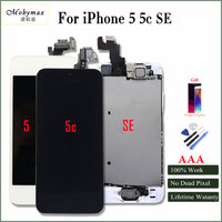 Mobymax AAA LCD For Iphone 5 5c SE Display Touch Screen Digitizer Full Assembly Frame Front
