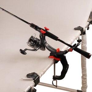 Image 5 - DAIICHISEIKO Neue Stange Halterung Angler Einstellbare Angelrute Halter S/M/L Größe Drehbare Stange Halter Set für boot Angeln Pesca