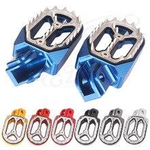 Острые зубы Байк Гонки Подножки для KTM Husqvarna 85cc-530cc все 2005 2006 2007 2008 2009 2010- 2015 синий