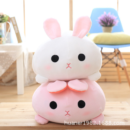Soft feather cotton pillow rabbit doll plush toys cushion office nap pillow high quality mymei pokemon pokeball go ultra soft pillow decor pillow soft plush doll