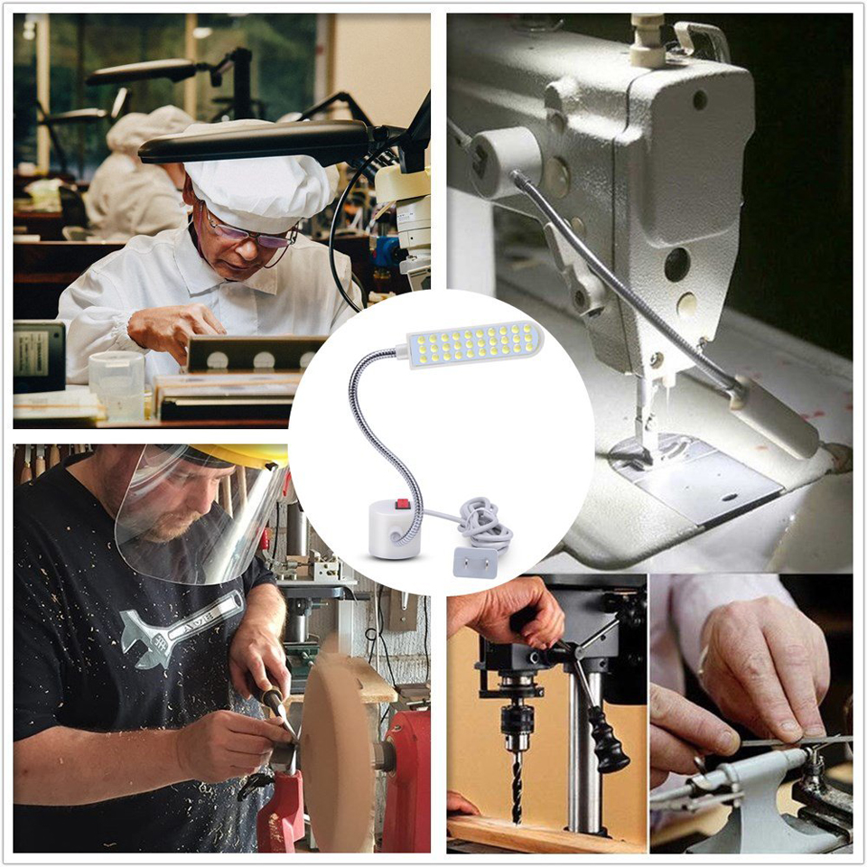 Image 5 - Sewing Machine LED Night Lamp 10/20/30LEDs Work Lights Night Light With Magnets Mount Light Luminaire For Sewing Machine Lathe-in LED Night Lights from Lights & Lighting