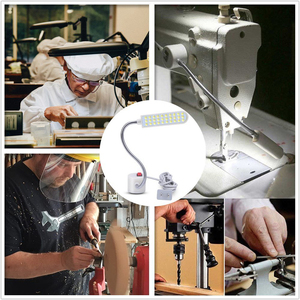 Image 5 - Sewing Machine LED Night Lamp 10/20/30LEDs Work Lights Night Light With Magnets Mount Light Luminaire For Sewing Machine Lathe