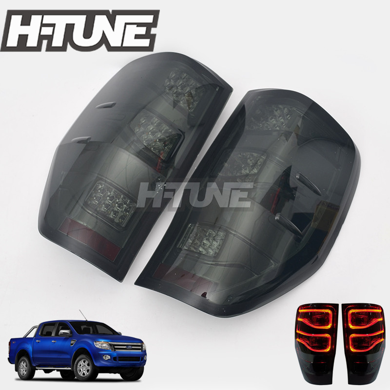 4x4 car Accessories Smoke LED Tail Light Lamps For Ranger T6 XLT PX 2012 2017