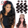 Top Peruvian Body Wave With Closure 360 Lace Frontal With Bundle With Baby Hair 7A Peruvian Virgin Hair With Closure Gossip Girl