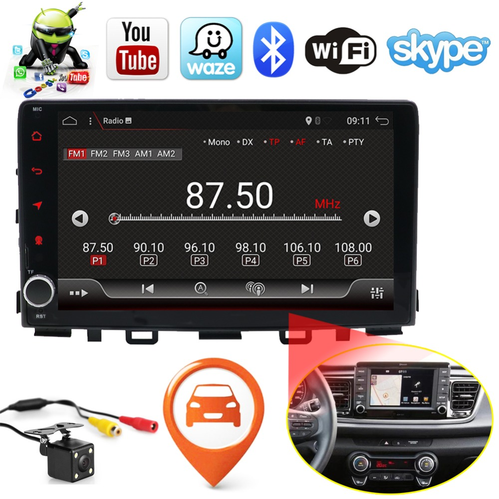 Android 7.1 Quad Core Fit KIA RIO 2017 Car DVD Player Navigation GPS Radio Touch Screen Audio Video Stereo Multimedia Player yessun for mazda cx 5 2017 2018 android car navigation gps hd touch screen audio video radio stereo multimedia player no cd dvd