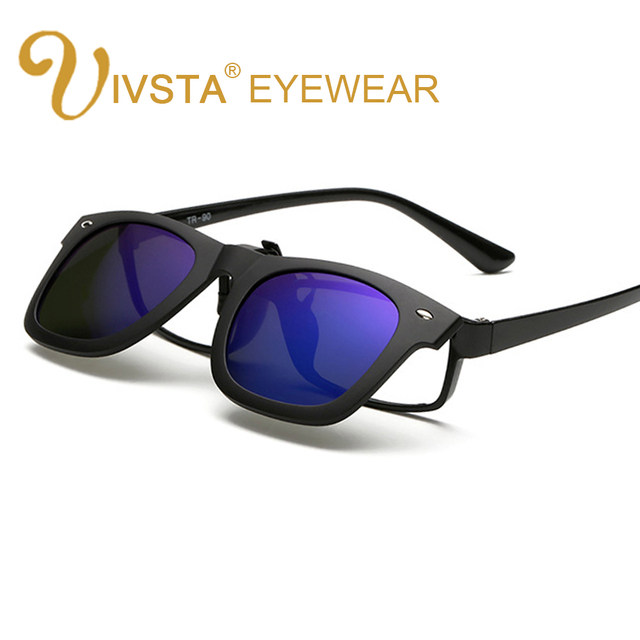 IVSTA 2017 클립 선글라스 남성 플립 클립 새로운 멋진 렌즈 운전 태양 안경 편광 여성 초경량 근시