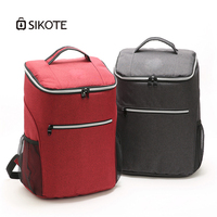 SIKOTE 20L Cooler Bag 600D Oxford Cooler Backpack High Capacity Thickening Ice Pack Insulated Cold Bags Fresh Food for Picnic