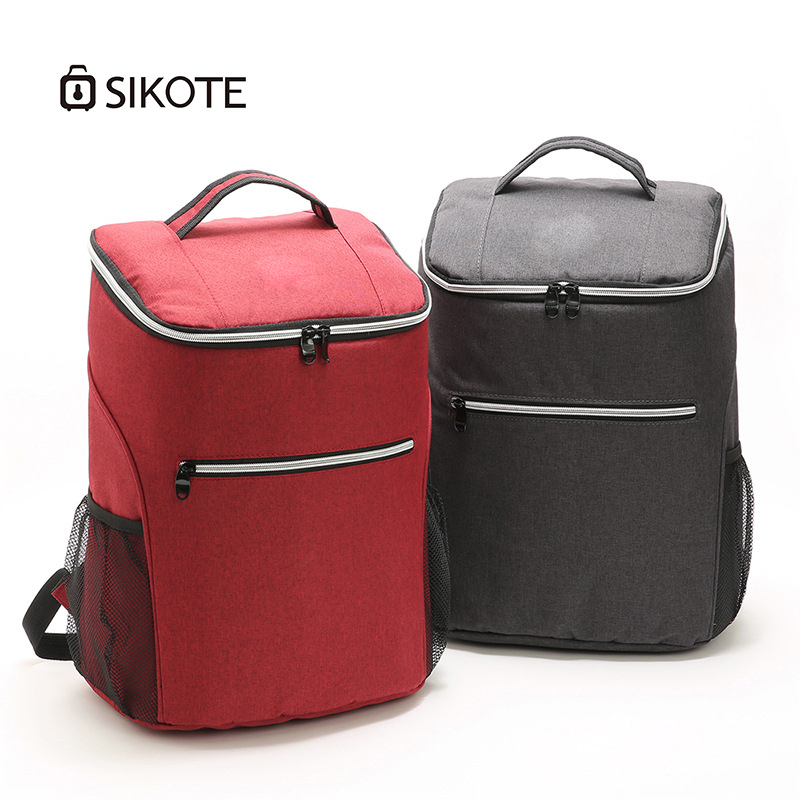 SIKOTE 20L Cooler Bag 600D Oxford Cooler Backpack High Capacity Thickening Ice Pack Insulated Cold Bags Fresh Food for Picnic image